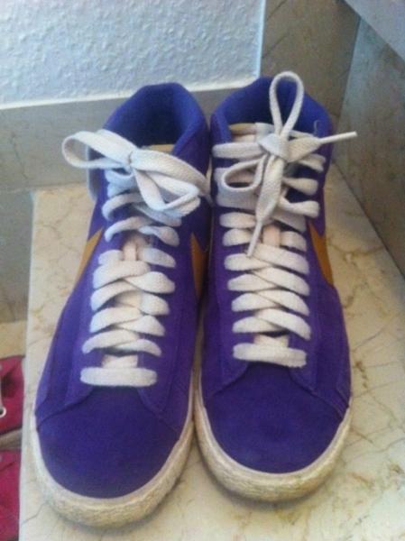 competitive price 968d6 9e9eb Nike Blazer Blogger lila senf gelb ...