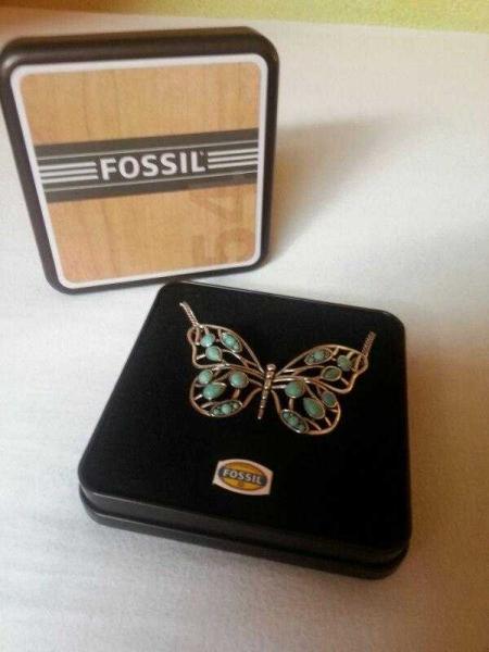 fossil schmetterling kette