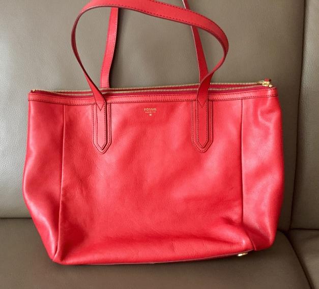 süß doppelter gutschein Modestile Fossil Tasche rot