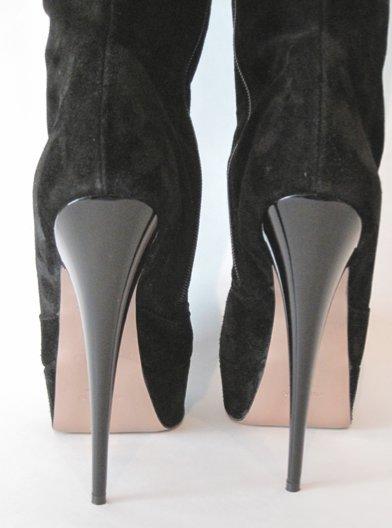 af9dc3e9e ... Sexy High Heels Wildleder Overknee Stiefel mit Plateau, schwarz, ...