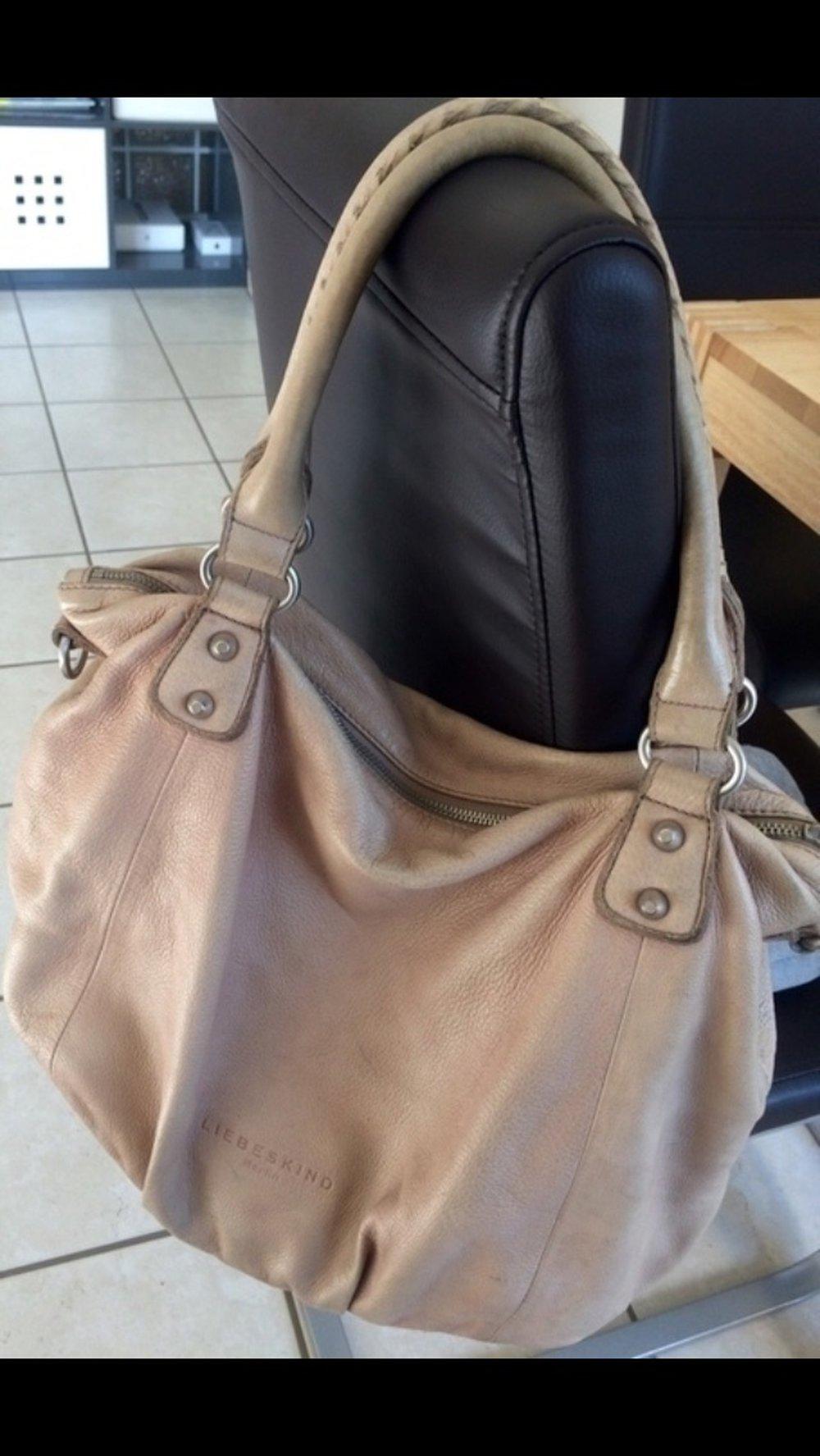 ... Liebeskind Tasche, Greta Vintage Stone, Leder beige  nude ... 1520df28cd