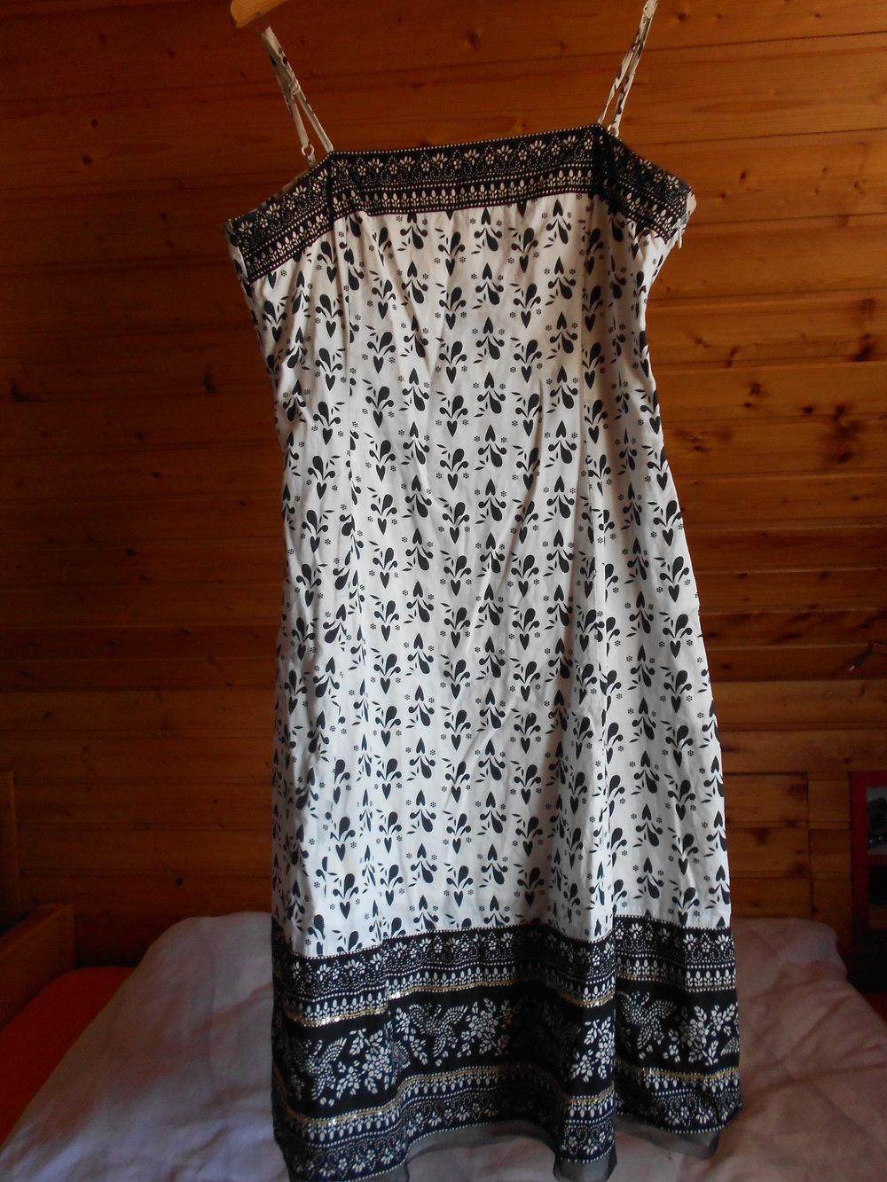 ... Vero Moda 38 Kleid Babydoll Trägerkleid A-Linie Muster Jugendstil Tüll  Glitzer Paisley Jugendstil schwarz ... 4c8fa2693a