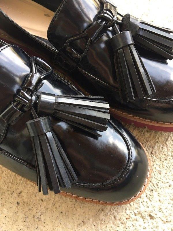 ... Neu Zara Woman Schuhe modischer Sohle Größe 39 Slipper schwarz ... 9b7055d11c