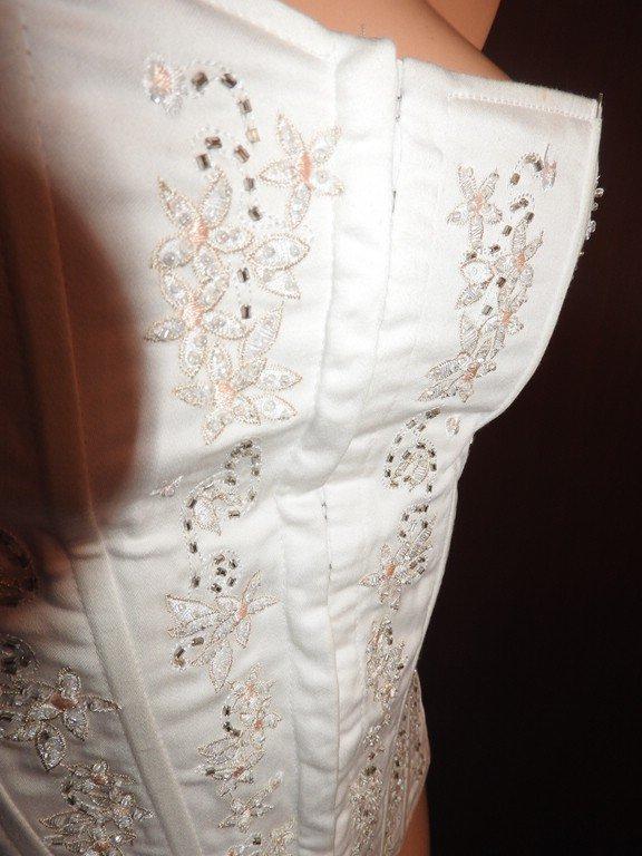 Braut Hochzeit Corsage Koresett Mit Perlchen Und Blumenstickerei