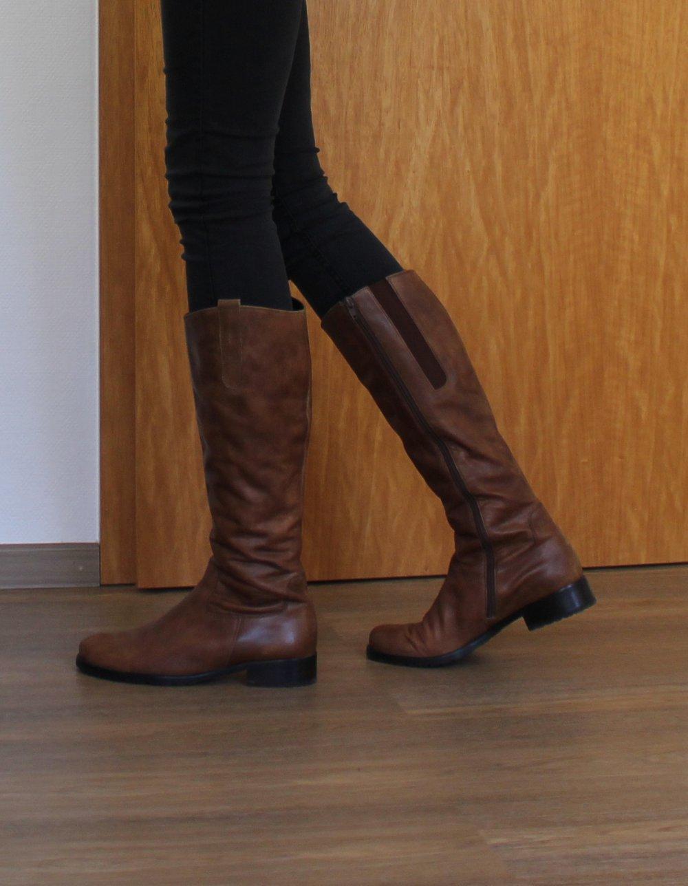 36114b5b5cf Damen Leder Stiefel braun Gabor (Neupreis 140€) :: Kleiderkorb.ch