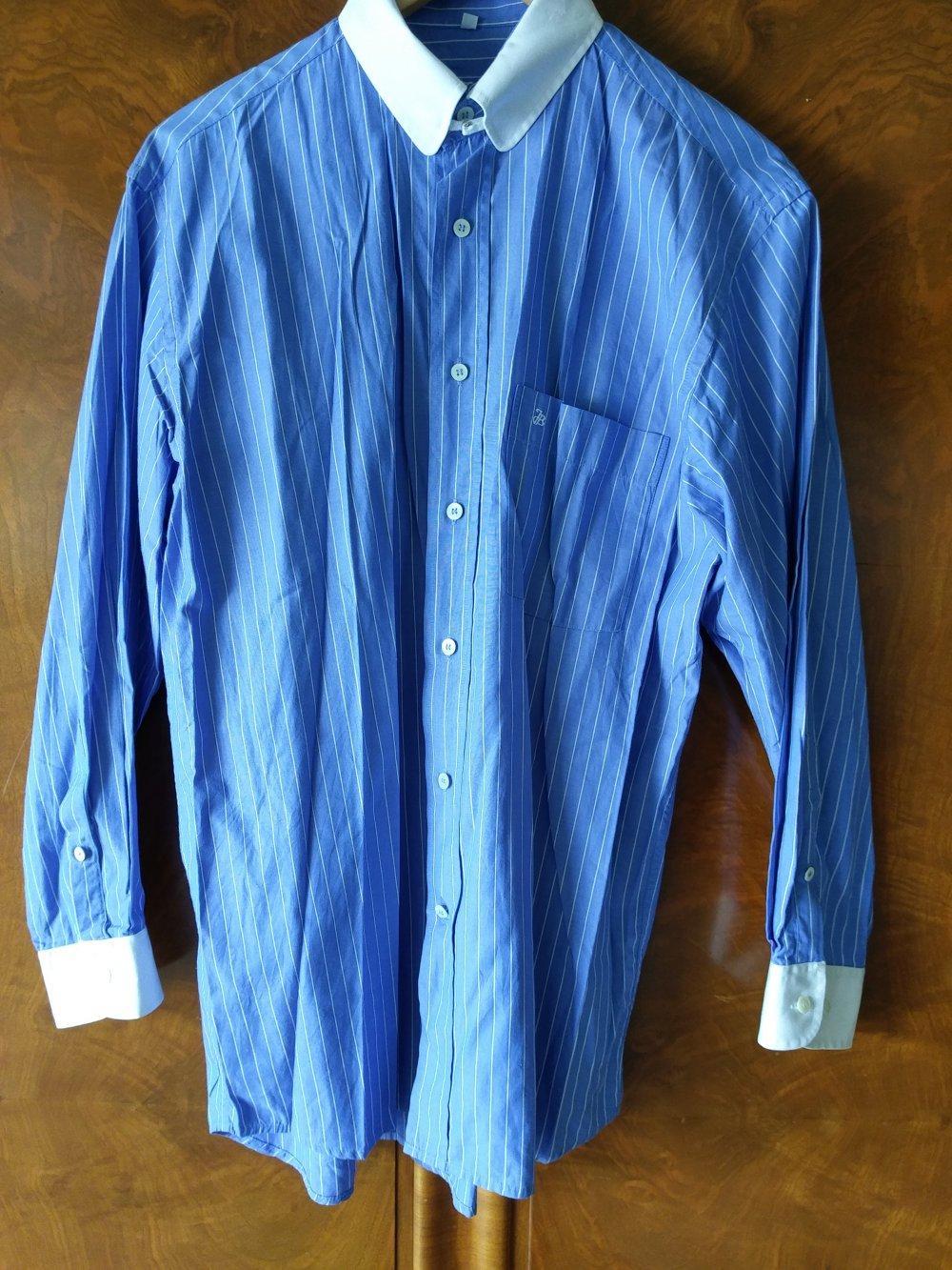 ... Hemd blau-weiß gestreift von Jacques Britt (Größe M - Kragenweite 39) 56bfd86f7f