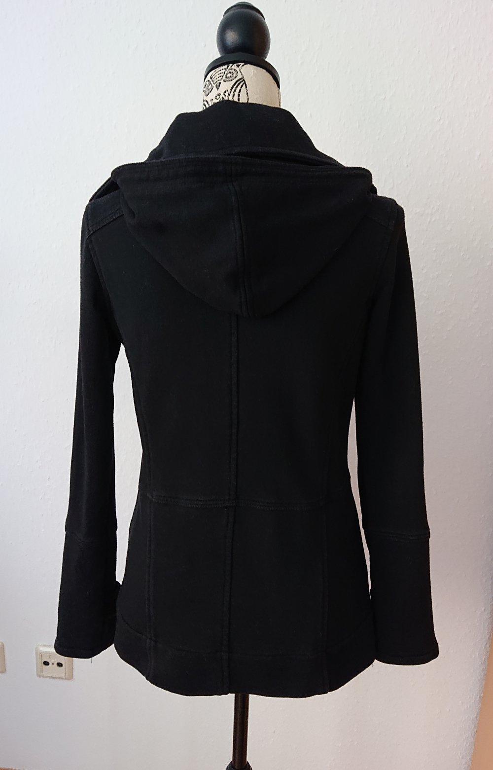 cheap for discount 4a419 480b4 schwarze Übergangsjacke / Sweat Jacke