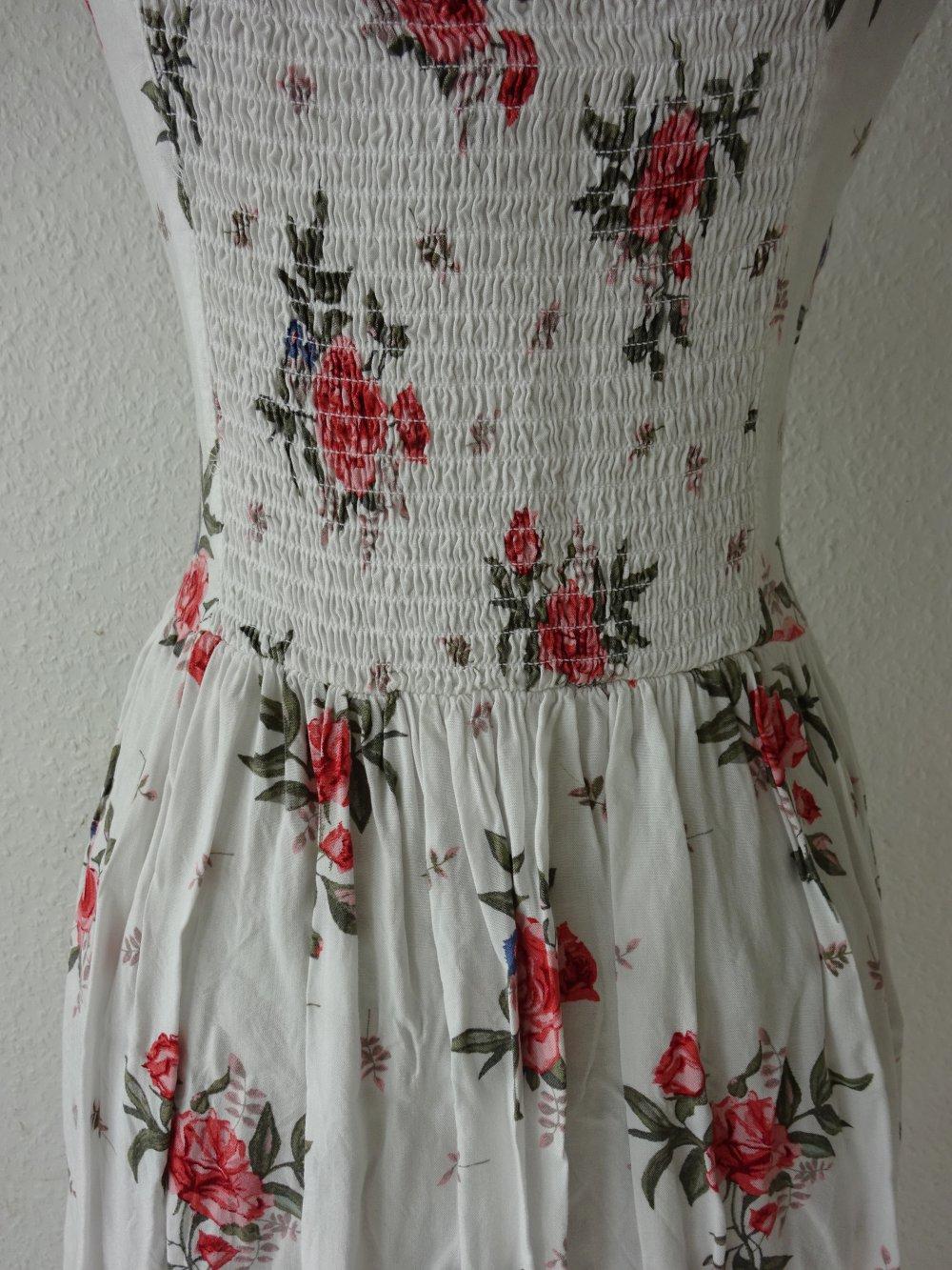 H&M - Zuckersüßes weißes Trägerkleidchen im Romantik Look ...