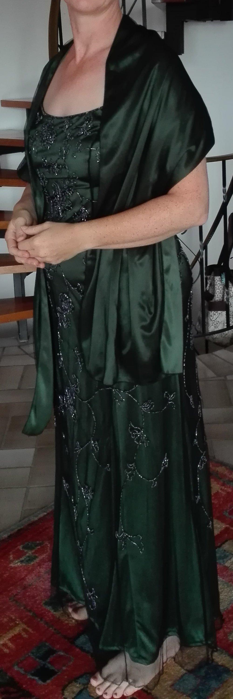 Niente Peek und Cloppenburg - smaragdgrünes Abendkleid mit ...