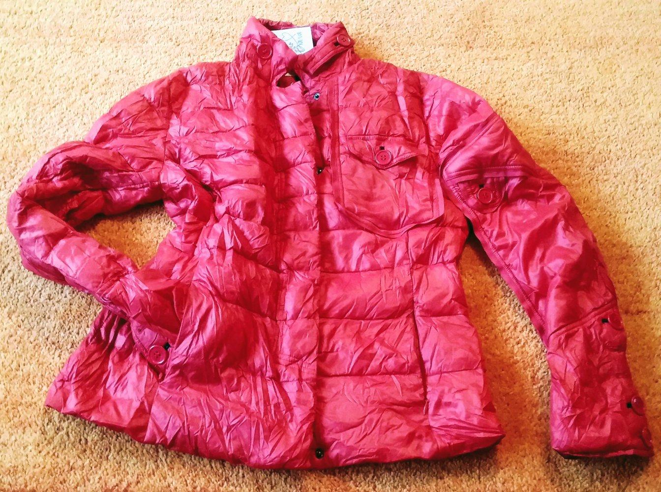 NEU Damen Jacke Daunen Stepp Blazer Gr.38(XL) in Rot von Solo Biava