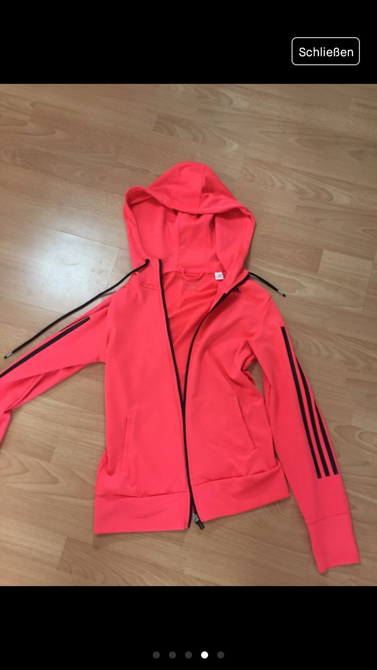 adidas Damen Essentials Linear Open Hem Fleece di0126 Kapuzen Sweatshirt