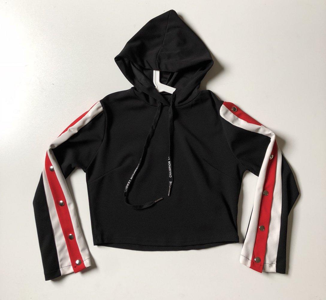 akzeptabler Preis super service harmonische Farben H&M Sweatshirt Pullover neu Knöpfe schwarz rot Kapuze weiß Pulli Buttons up