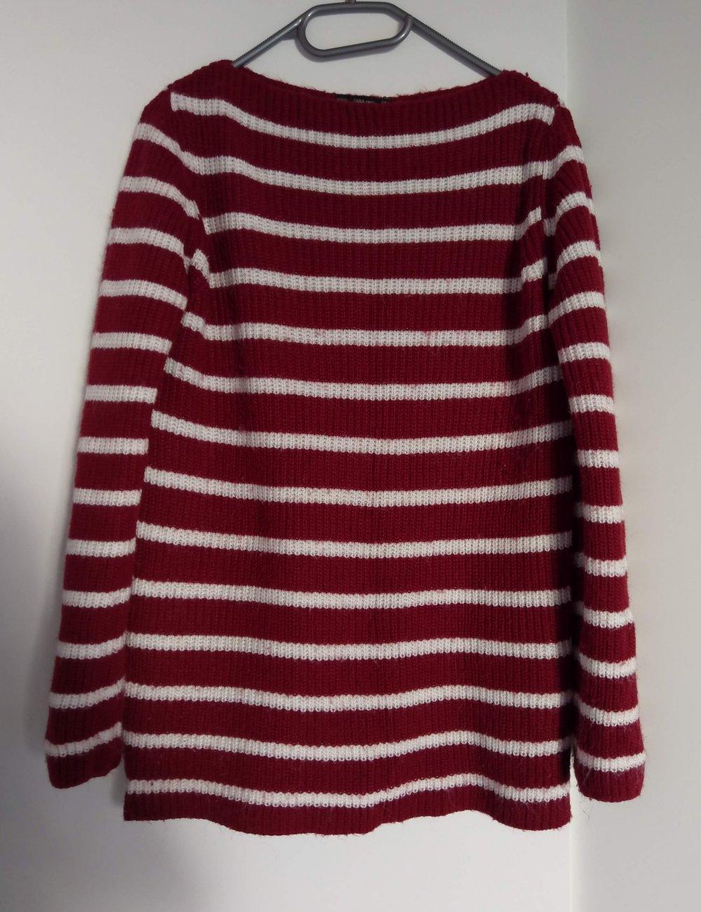 c506ad20754c7f Zara KNIT Pullover rot weiß gestreift Zara KNIT Pullover rot weiß gestreift  ...