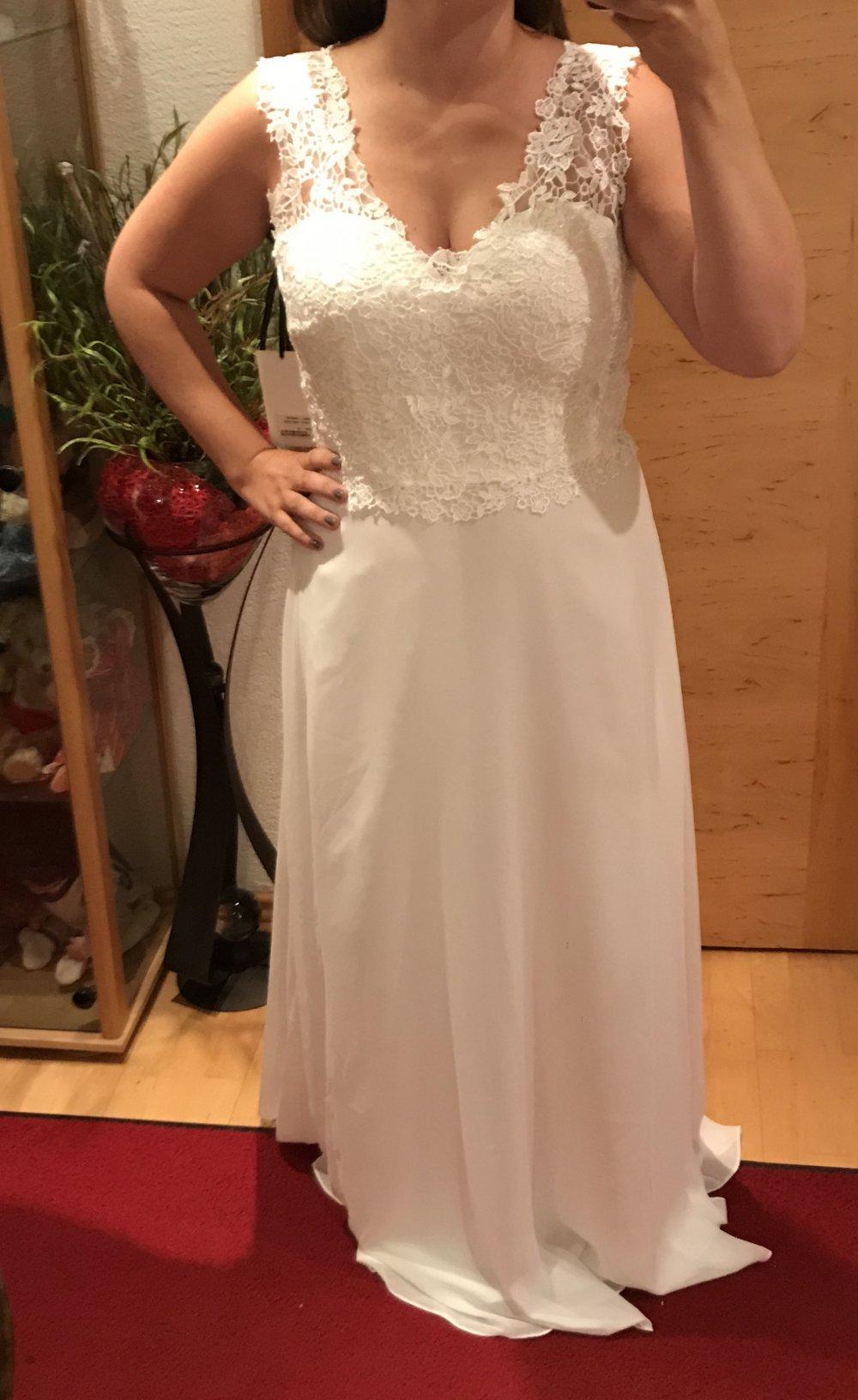 Abendkleid/Hochzeitskleid weiss