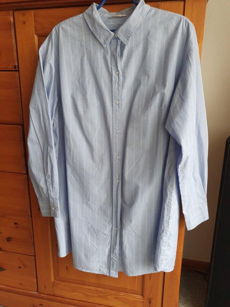 Midi-Kleid H&M, hellblau-weiß gestreift, G. L ...