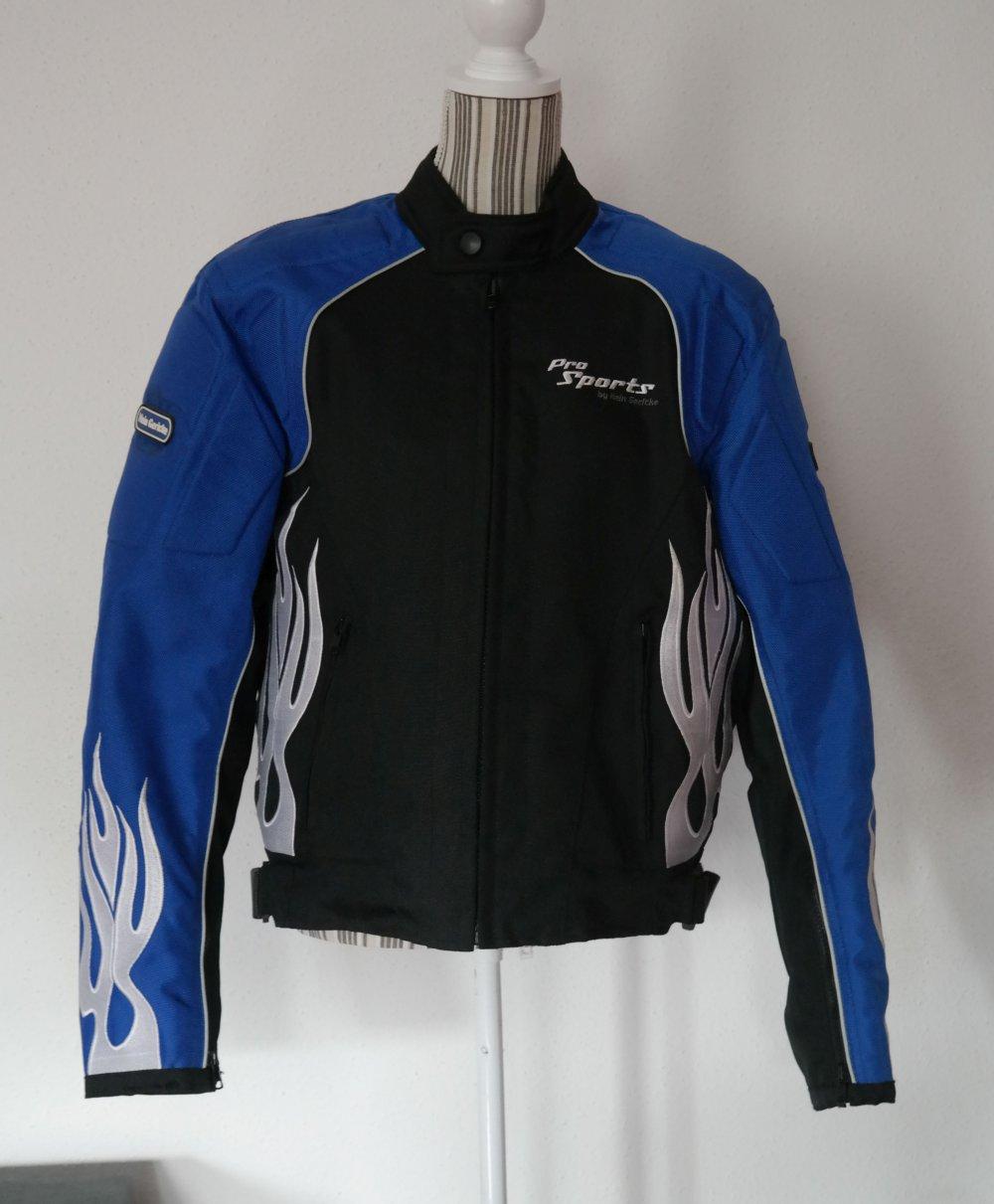 Sports Hein Flammen Bikerjacke Gericke Motorrad Motorradjacke Blau Pro Jacke FJc3TlK1