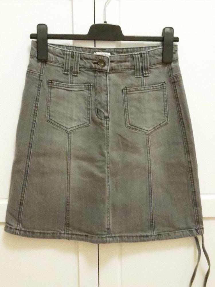 big sale 96f66 6c5d8 BoyseN's Jeansrock Gr. 34 grau mittellang Midirock Jeans Rock