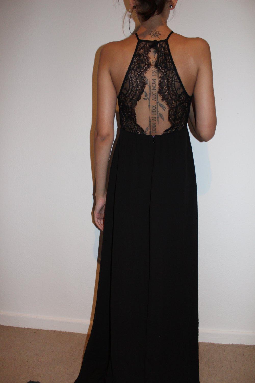Langes Kleid mit Spitze Neu H&M Abikleid Abendkleid ...