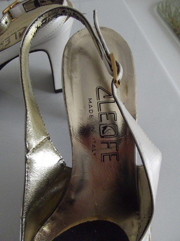 Cleofe - Sehr schöne Gold  Creme Slingpumps Wie Neu    Kleiderkorb.ch b01661b961