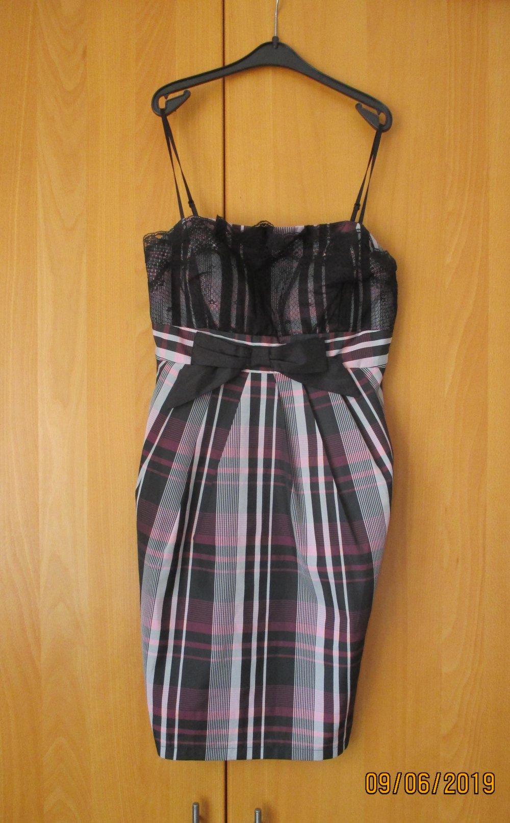 Xanaka - Schickes Kleid mit schwarzer Spitze, Gr. S ...