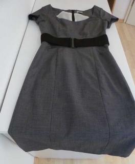ff4dba7fd5779a Gelber Benetton Kurzarmpullover Schickes Kleid für's Büro