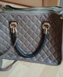 eadb192f48efb khaki Tasche beige Tasche mit Muster