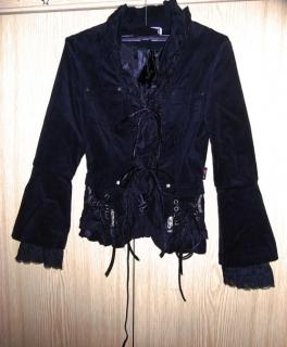 579f030d3e9d6 schwarze Jacke Gothic visual kei Spitze 32 34 ...