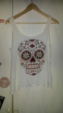 b63ac8456e85 Divided H M Totenkopf Sugar Skull Calavera Mexico Top