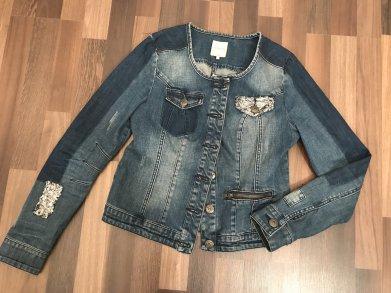 Details zu Moderne Damen Jeansjacke Zara Dicke Jacke Jeans gefüttert 100% Cotton Damen XS